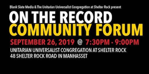 Community Forum: The Changing Demographics of Nassau County