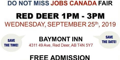 Red Deer Job Fair – September 25th, 2019