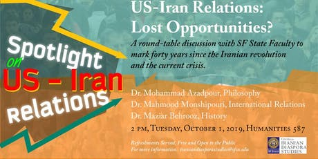 US-Iran Relations: Lost Opportunities? tickets