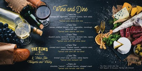 Wine and Dine at The Elms Hotel and Spa tickets