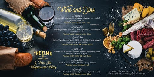 Wine and Dine at The Elms Hotel and Spa
