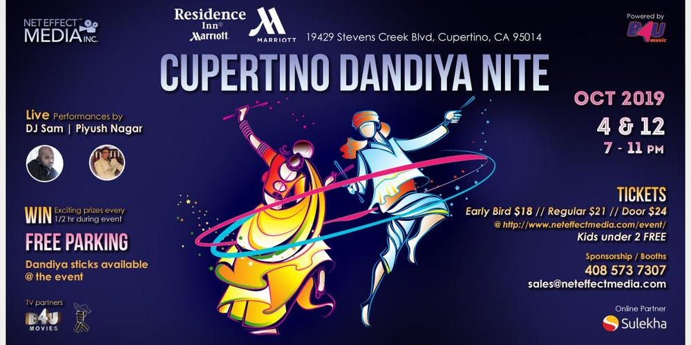 5th Cupertino Dandiya Nite - OCT 4 Tickets, Fri, Oct 4, 2019