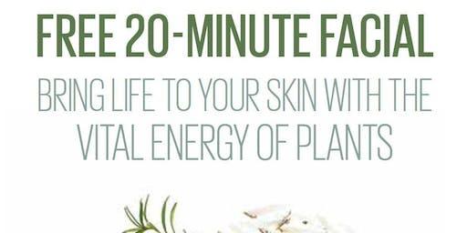 Free 20 Minutes custom facial