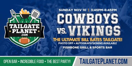 Eddie Dean's Tailgate – Cowboys vs. Vikings tickets