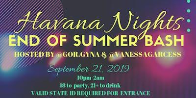 Havana Nights End of Summer Bash