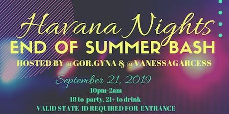 Havana Nights End of Summer Bash tickets