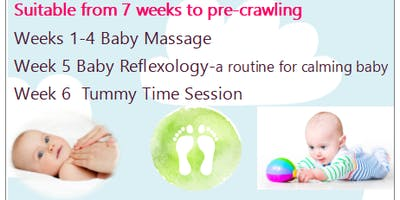 6 Week First Steps Course - Baby Massage, Baby Reflexology and Tummy Time. Fri 8th Nov 10.30am