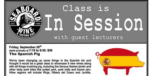 Spanish Wine & Swine Class