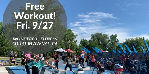 """Free Workout Class on the """"Wonderful Fitness Court""""!"""