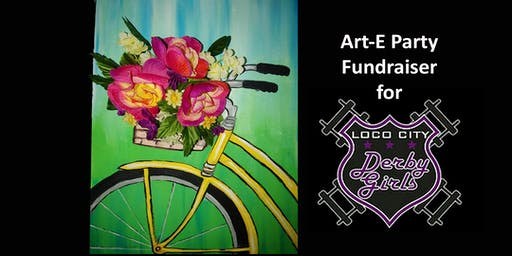 Mixed Media Floral Bicycle Art-E Party