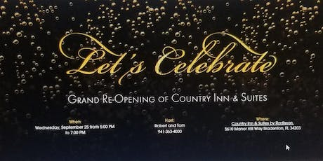 Country Inn & Suites Grand Re-opening tickets