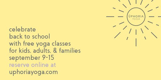 Free yoga classes for the whole family!