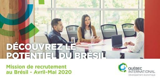 Mission de recrutement au Brésil