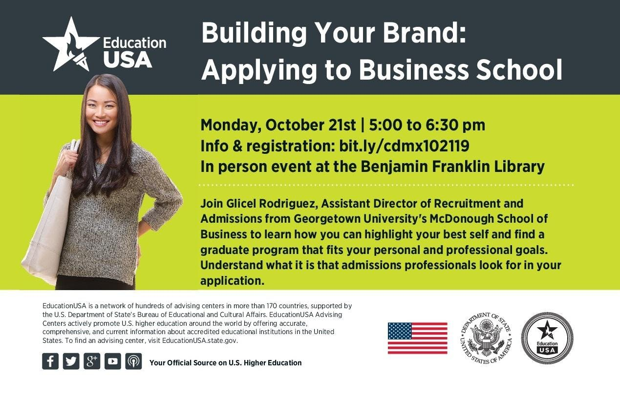 Building Your Brand Applying to Business School (graduate) with Georgetown