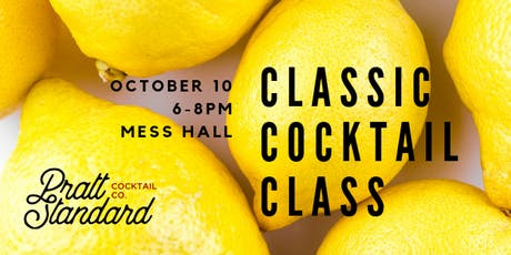 Classic Cocktail Class- October tickets