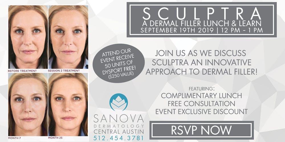 Sanova Dermatology - Central Austin | Sculptra Lunch & Learn