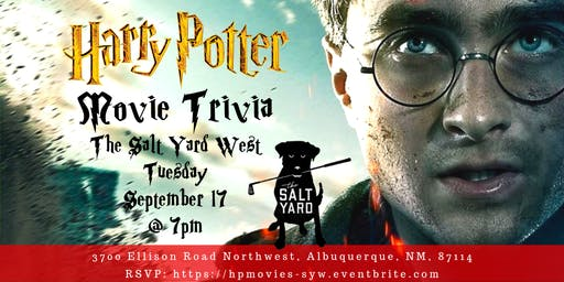 Harry Potter Movies at The Salt Yard West