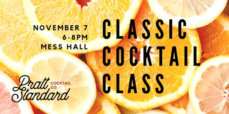 Classic Cocktail Class- November tickets