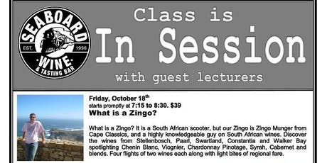 South African Wine Class! tickets