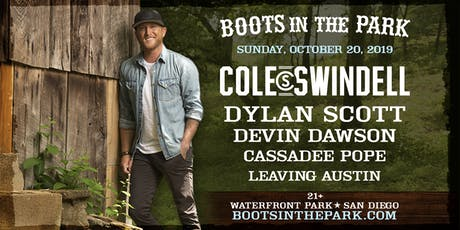 Boots in the Park - San Diego with Cole Swindell, Dylan Scott, Devin Dawson, Cassadee Pope & Leaving Austin tickets