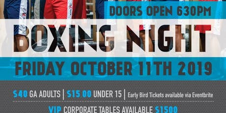 PCYC Parramatta Boxing Night- October 11th 2019 tickets