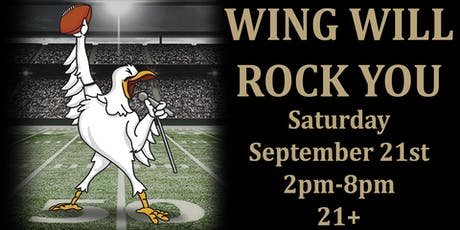 WING Will Rock You!! (College Football & Wing Event) tickets