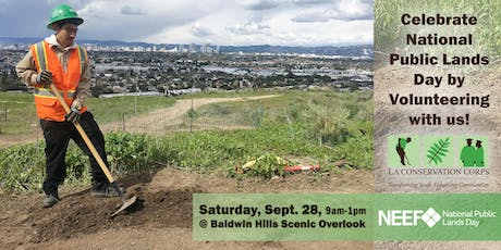 NPLD with The LA Conservation Corps @ Baldwin Hills Scenic Overlook tickets