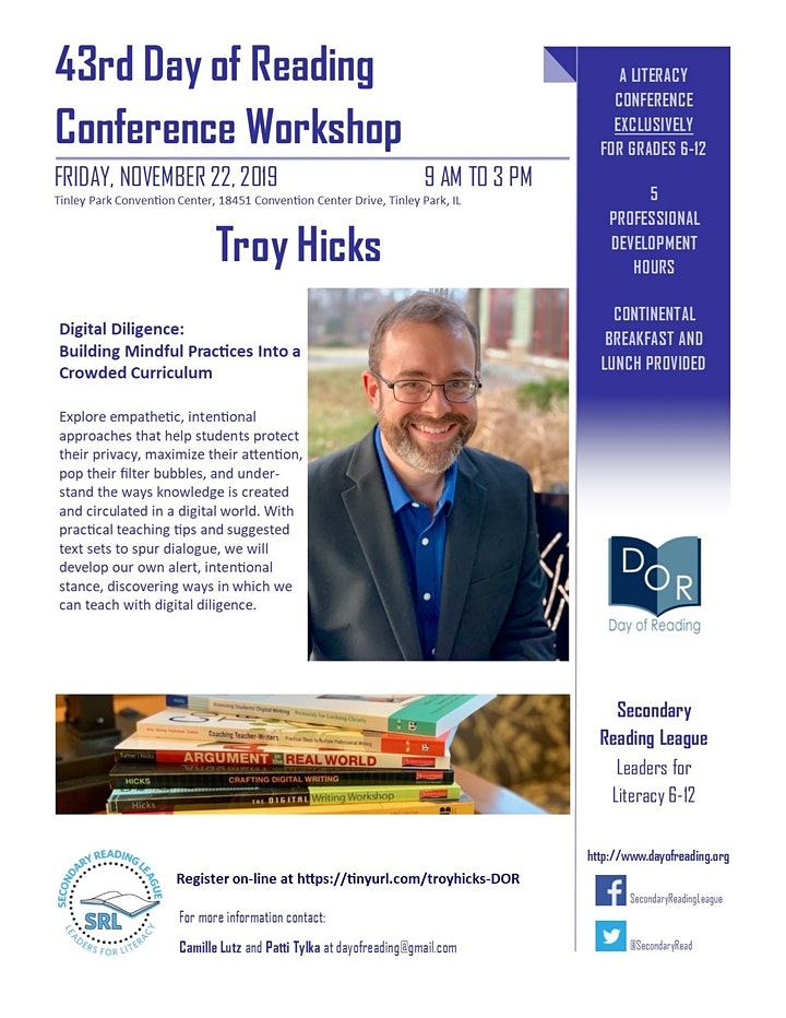 43rd Day of Reading with Troy Hicks image