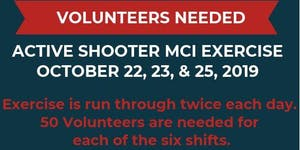 Volunteer as a Patient at MCI Active Shooter Exercise f...