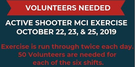 Volunteer as a Patient at MCI Active Shooter Exercise for YEMSA tickets