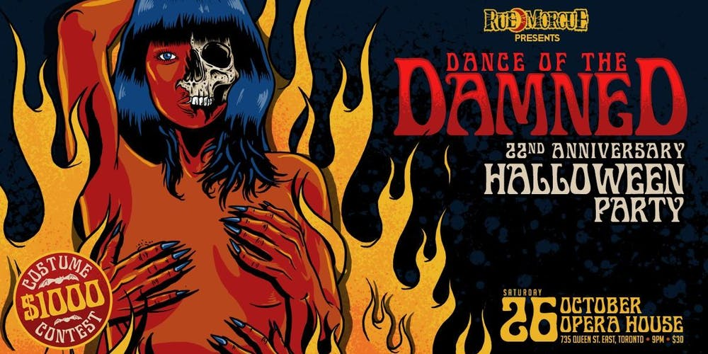 Halloween Feest.Dance Of The Damned Halloween Party Tickets Sat Oct 26