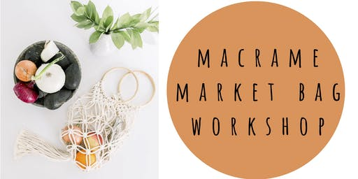 Macrame Market Bag Workshop at Cursive