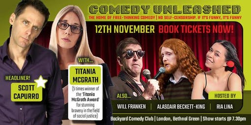 Titania McGrath & Scott Capurro at Comedy Unleashed