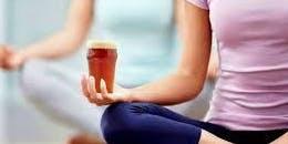 Bottoms Up.  Beer & Yoga.