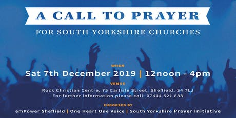 A Call to Prayer for South Yorkshire Churches tickets