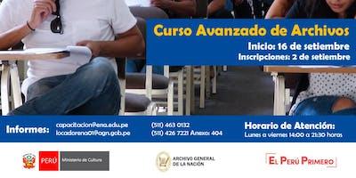 CURSO AVANZADO DE ARCHIVOS