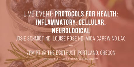 Protocols for Health: Inflammatory, Cellular, Neurological tickets