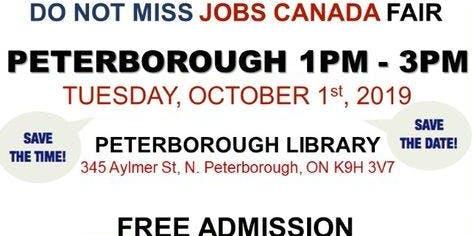 Peterborough Job Fair - October 1st, 2019