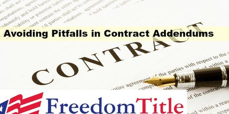 MCE CLASS!!  Avoiding Pitfalls in Contract Addendums ($10 1 hr MCE) tickets