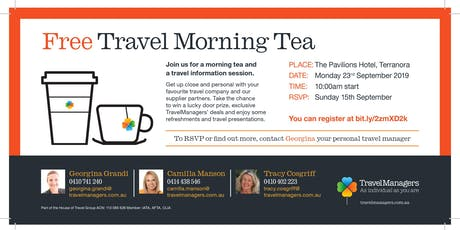 TravelManagers Travel Morning Tea tickets