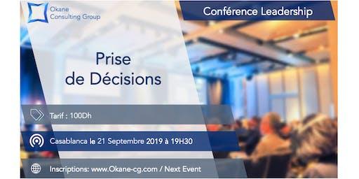 Conférence Leadership & Soft Skills - Prise de Décisions