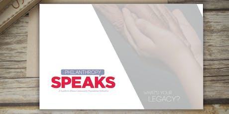 Philanthropy Speaks tickets