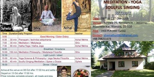 Meditation, Yoga & Soulful Singing Retreat in Konstancin