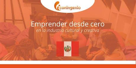 Emprender desde cero en la industria cultural y creativa. tickets