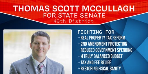 Fundraiser For Thomas Mccullagh Illinois State Senate District 49 Candidate