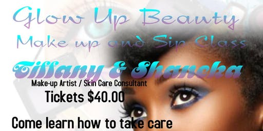 Glow Up Beauty Makeup and Sip class