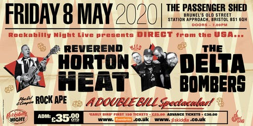 Reverend Horton Heat + Delta Bombers & Support from The Strays