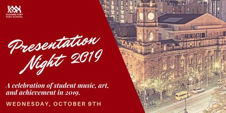 Suzanne Cory High School | Presentation Night 2019 tickets