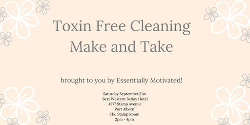Toxin free cleaning Make and Take