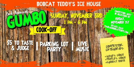 2nd Annual Gumbo Cook-Off tickets